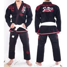 New Design Sunrise Super Cool Python BJJ Gi Black White Python embroidery Brazilian Jiu Jitsu Gi BJJ Kimono for men women(China (Mainland))