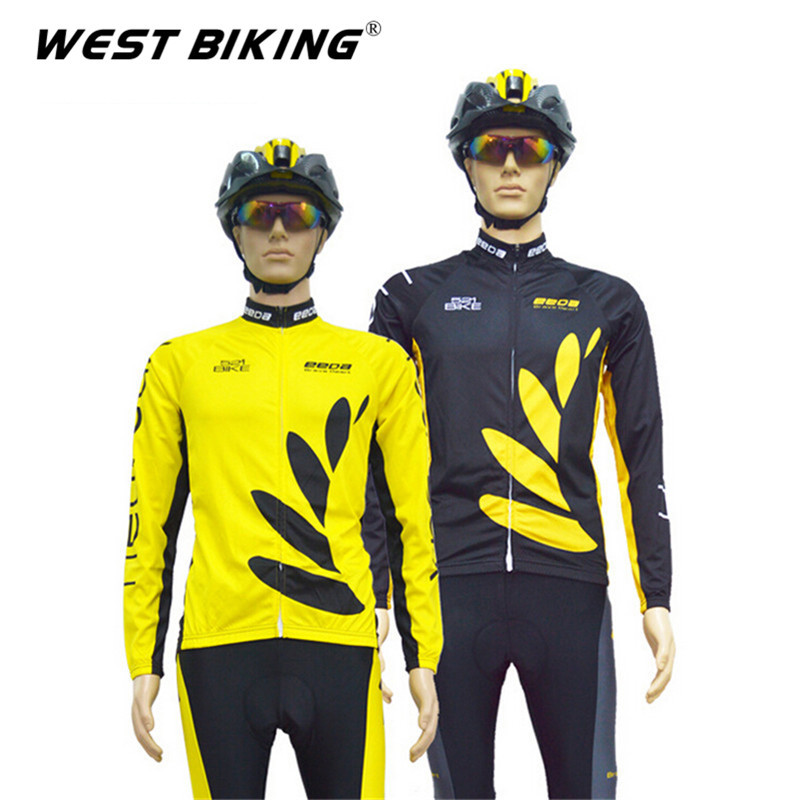 Quick Dry Reflective Men Black Yellow Leaf GEL PaddedBike Bicycle Clothing Cycling Jerseys Pants Set Sports Tights Clothing Suit<br><br>Aliexpress