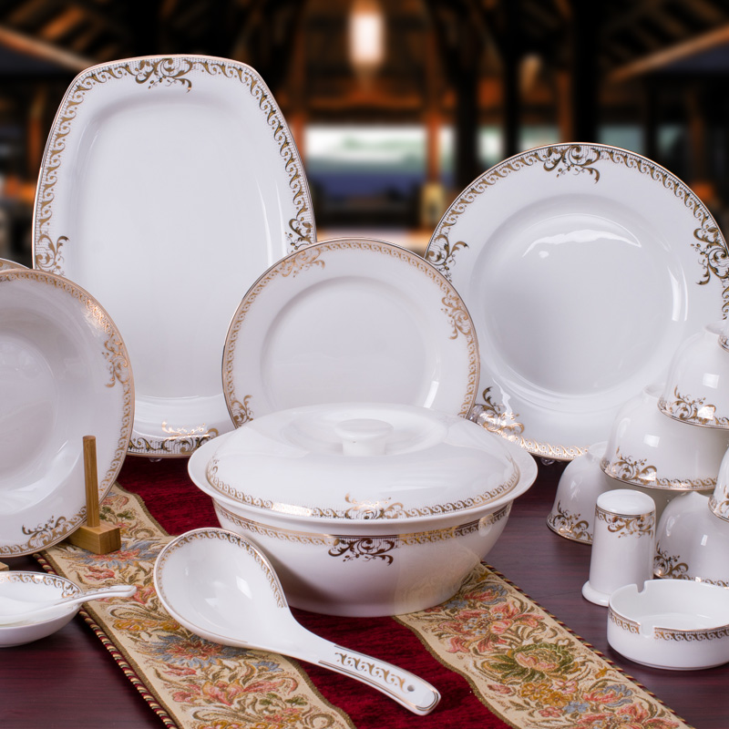 free shipping fashion chinese style crockery sets of 56 bone china dinnerware set porcelain. Black Bedroom Furniture Sets. Home Design Ideas