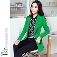 New 2016 Blazer Women casacos femininos Basic Jackets women blazer slim coat Black Green Blazers suits for women cardigan X2428