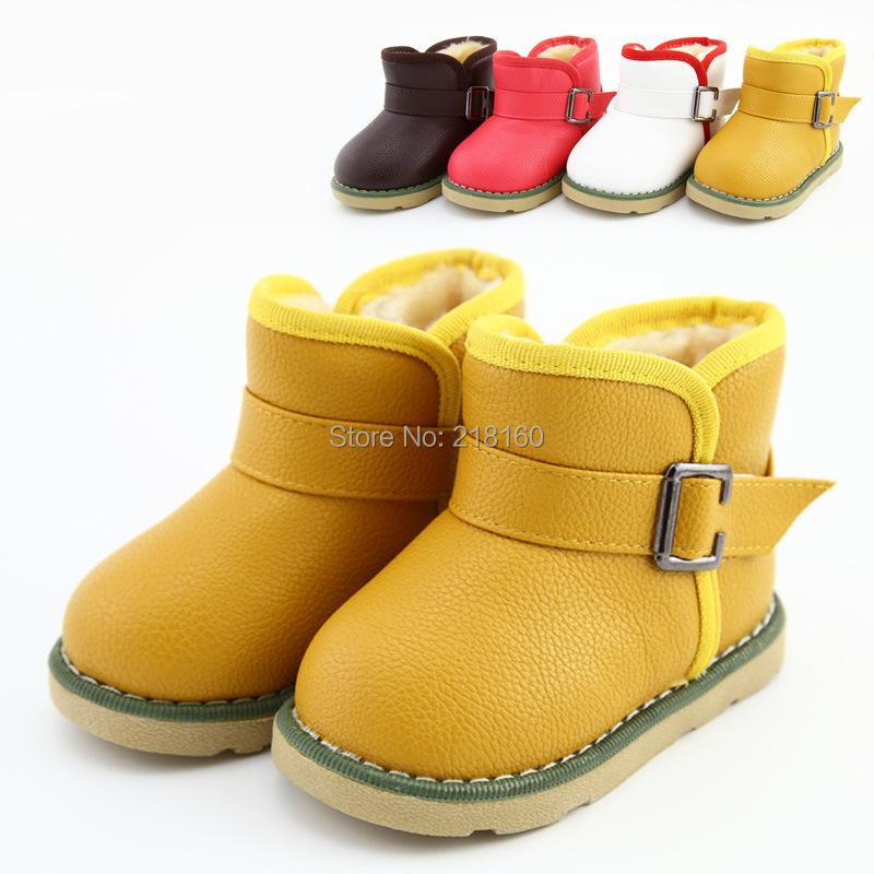 us size 5 8 children boots winter keep warm anti slip