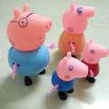 4pcs lot 2016 Pink Blue Pig The Family Members Puppets Animal Model Western Animation Children