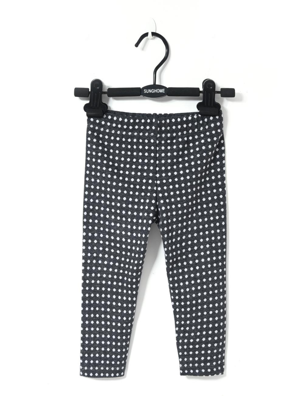 2016 spring autumn newborn baby girl leggings infant girl long pants children dots capri kids warm knitted pants cotton trousers(China (Mainland))