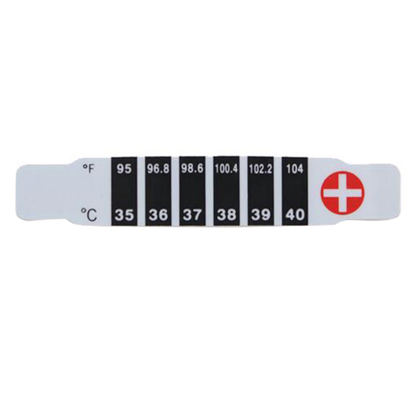 3pcs/ Lot Cheap Price Useful Reuse Head Temperature Test Thermometer Sticker for Infant Babys(China (Mainland))