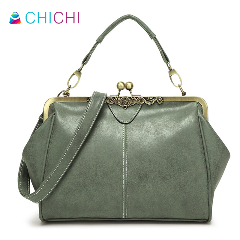 CHICHI 2016 New Classic Totes Nubuck PU Leather Trapeze Women Brands Designer Handbags Purse Green Ladies Messenger Shoulder Bag(China (Mainland))