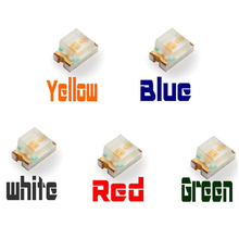 5 Colors 50pcs 0805 SMD SMT LED Diodes White Red Yellow Green Blue  Kits Free Shipping