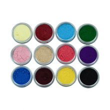 12pcs Nail Acrylic Powder 12 Colors Shiny Flour Set Nail 3D Manicure Tips Decoration Builders Powder For Beauty(China (Mainland))