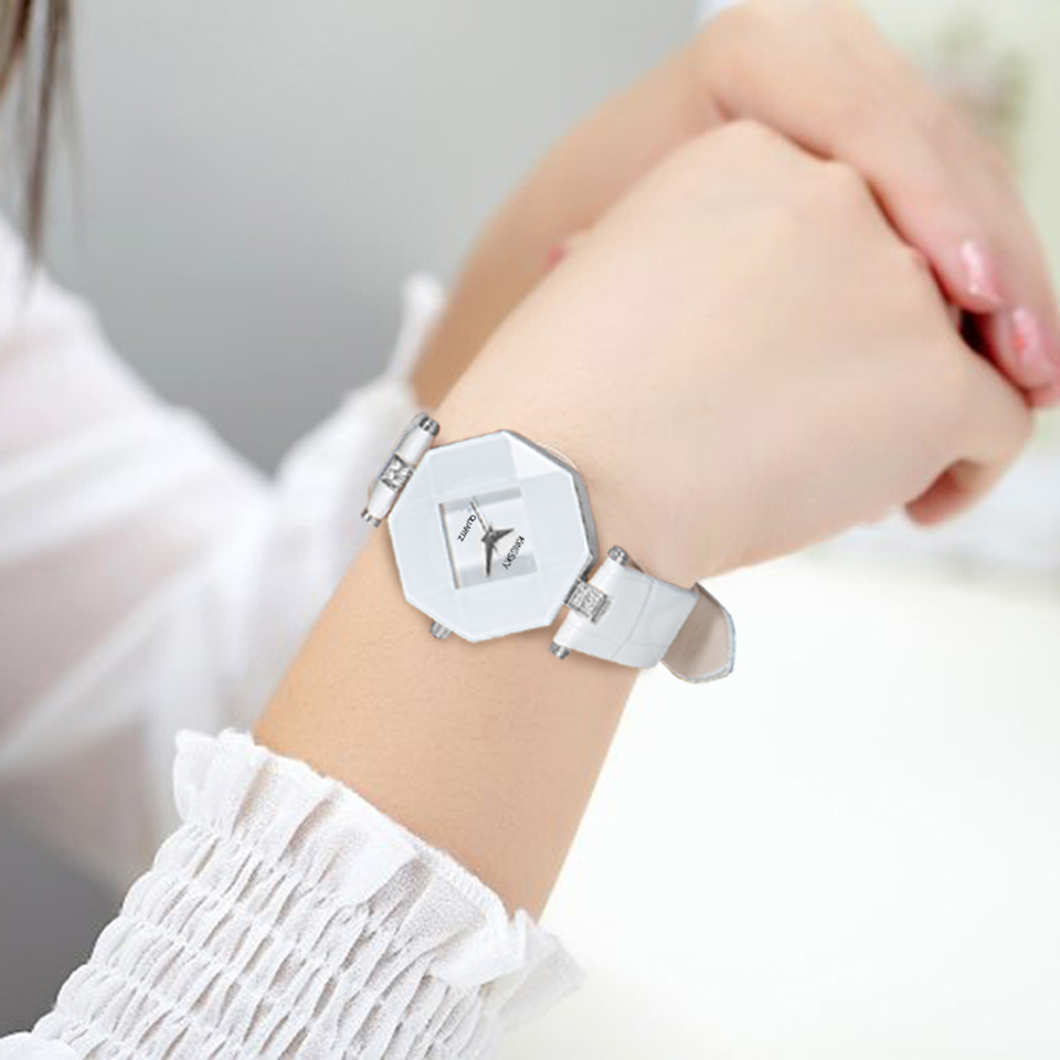Kingsky Famous Brand Ladies Watch Dress Leather Wrist Watches For Women Quartz Movement A1268#(China (Mainland))