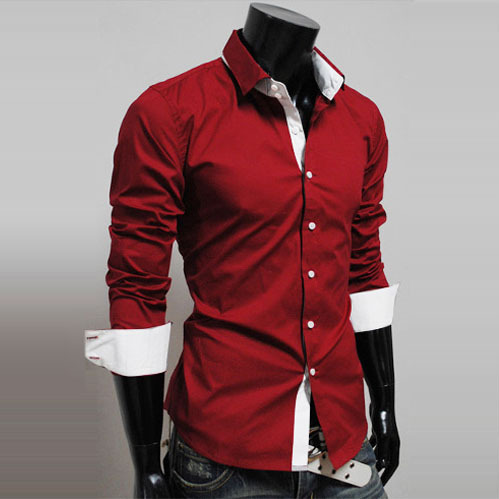Slim fit mens button down shirts is shirt for Athletic fit button down shirts