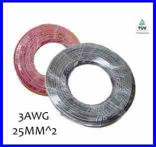 Hot Sell 5meters 25mm2 Solar Power Cable Solar Panel Electric Copper Wire Photovoltaic Cables 5AWG 6AWG TUV Or UL Approved(China (Mainland))