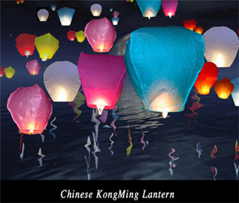 2016 lighting HOT! Big Chinese KONGMING Lanterns Fly Sky Candle Lamp Flying Wishing Paper Light For mother's day wedding Wish Pa(China (Mainland))