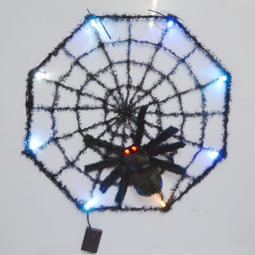Top Grand Hot Sale LED Giant Spider Web Halloween Party Festival Indoor Outdoor Decoration Prop Home Bar Decoration(China (Mainland))
