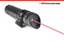Tactical Red Beam Laser Sight With Rail Mount 5 mW Laser Emitter Sharp Imgage Wavelength 650nm Remote Pressure Switch Cord