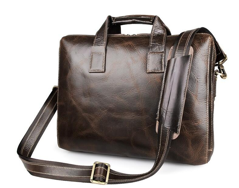 European n America Fashion Men business bags Male genuine leather briefcases 100% first layer of cow leather handbags laptop bag<br><br>Aliexpress