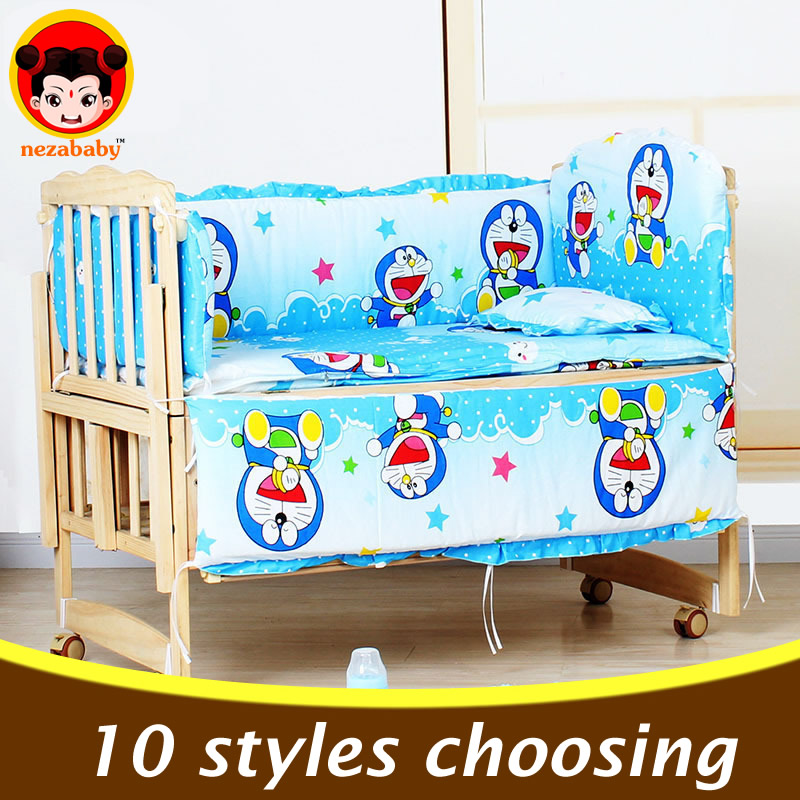 5PCS baby crib bedding set cartoon baby bedding set newborn baby bed set crib bumper baby cot set baby bed bumper 100x58cm CP01<br><br>Aliexpress