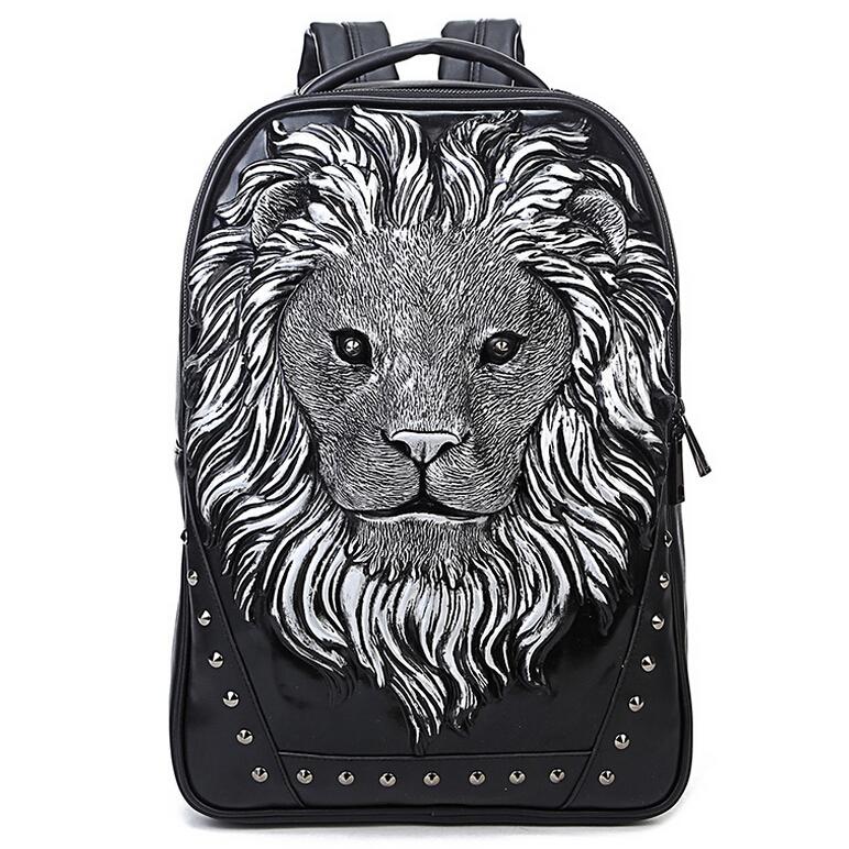 2015 Famous Brand Design men Women Backpacks fashion Travel Animal Leather Backpack School Bag Vintage leather laptop backpack<br><br>Aliexpress