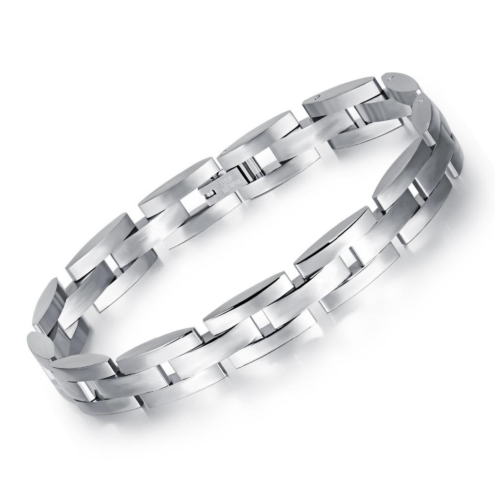 Men's Fashion titanium steel bracelet Classic men stainless steel bracelet boyfriend birthday gift Korean jewelry wholesale(China (Mainland))