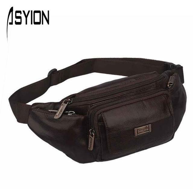 Asyion 2016 новый бренд мужчины многофункциональный сумки из натуральной кожи груди ...