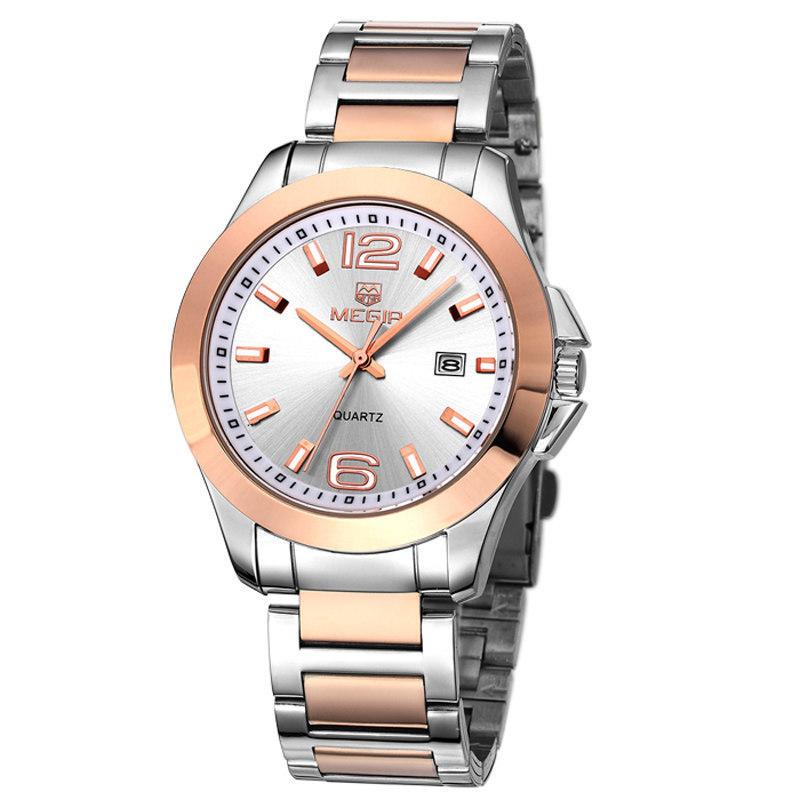 Men Wristwatch Luxury MEGIR Brand Full Stainless Steel Chronograph Function Mens Quartz Watch Casual Watch relogio masculino<br><br>Aliexpress