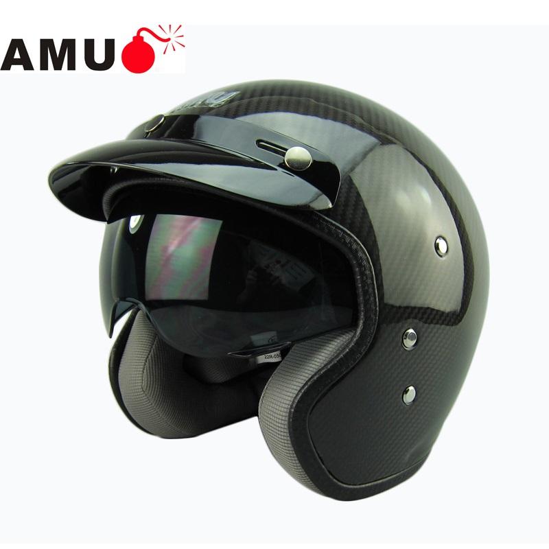 amu half helmet carbon fiber helmets retro helmet. Black Bedroom Furniture Sets. Home Design Ideas