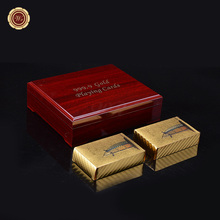 Buy WR Gold Foil Poker 24K Gold-Foil Plated Playing Cards Poker Table Games Durable Waterproof Plastic Playing Cards for $19.20 in AliExpress store