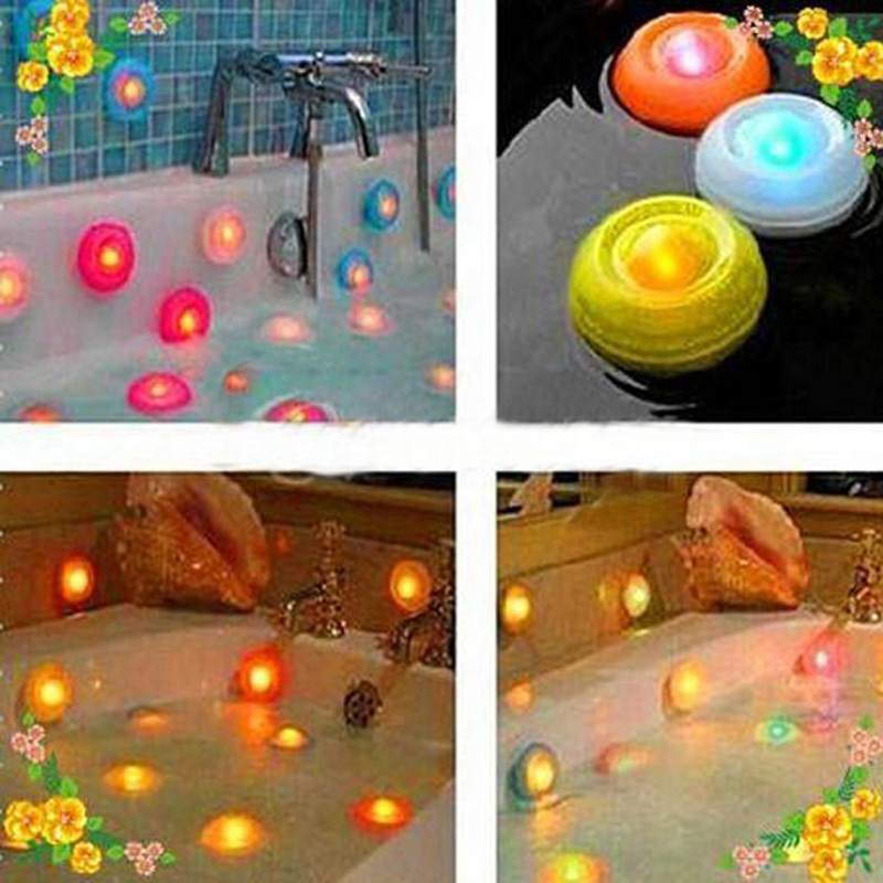 D1U# Underwater Auto Color Changing Lamp Floating LED Pond Pool Spa Hot Tub Night Light with Sucker Free Shipping(China (Mainland))