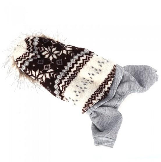 1 кусок зимой теплый с капюшоном собака одежда пальто ПЭТ Одежда для собак поставляют три цвета