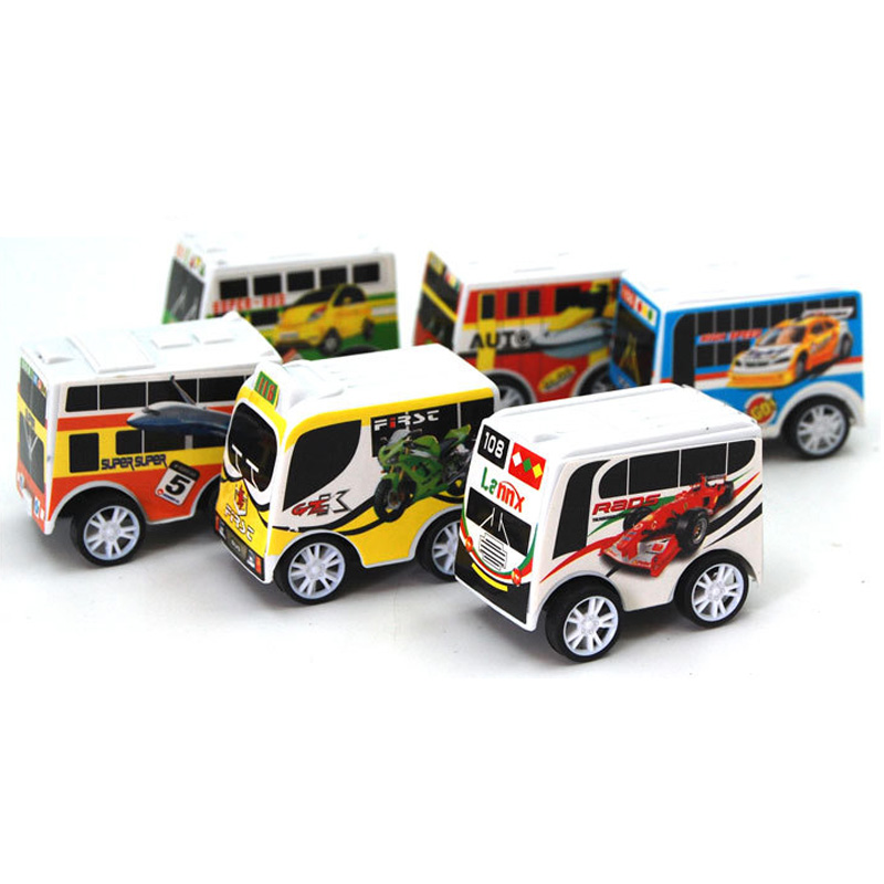 wheels mini boy toy cars bus model mlstyle toy model car multi color for children Plastic pull back car toys(China (Mainland))