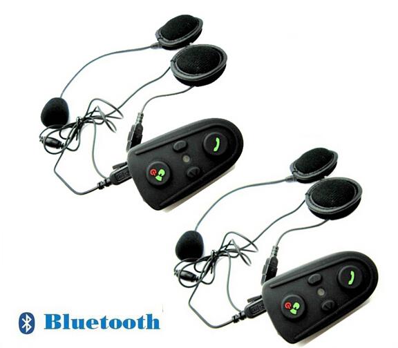 2pcs 100m Intercom Bluetooth FM Motorcycle Motorbike Helmet Headset HM-528(China (Mainland))