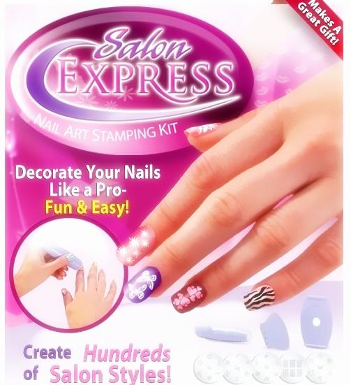 New Arrival Salon Express Nail Art Stamping Art Set TV Hot