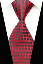 NT0553 Black Red Stripes New Classic Silk Polyester Man s Jacquard Woven Necktie BusinessCasual Knitting Ties