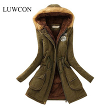 Winter Jacket Women 2016 New Winter Womens Parka Casual Outwear Military Hooded Coat Long Femme Woman Clothes A1617