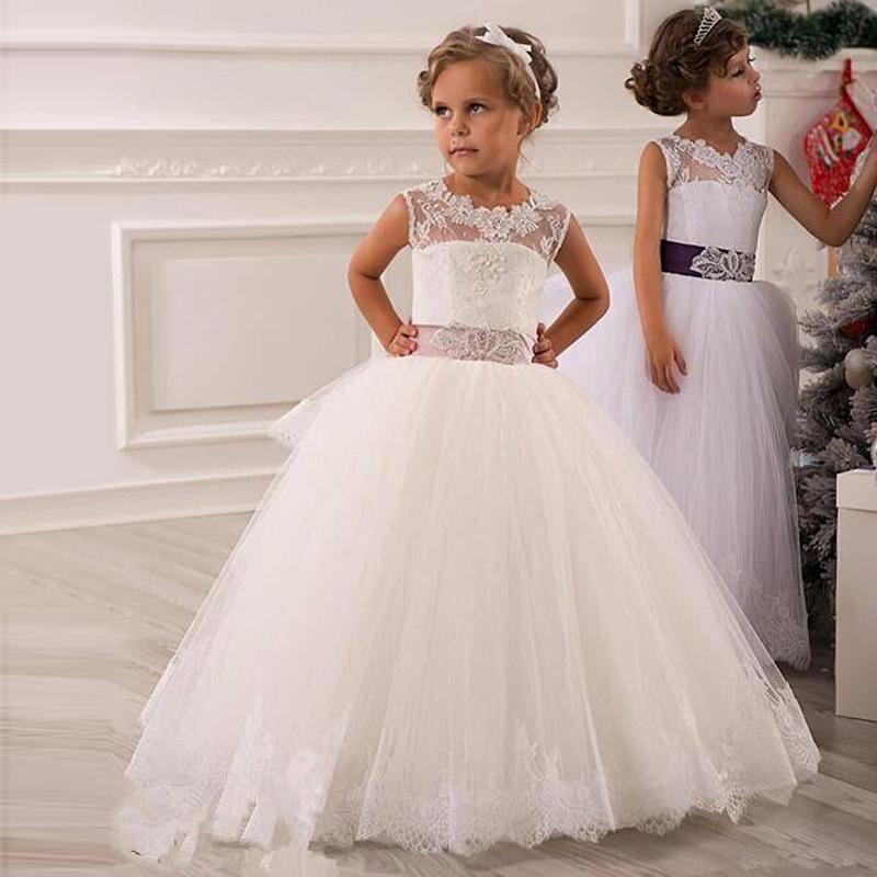 Imagenes de vestidos de nina blancos