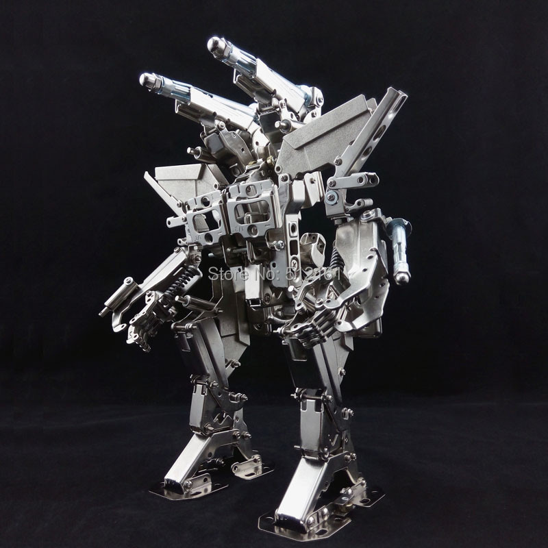 New limited edition diy Full metal nickel model of the robot kits Destroyer II Mech model mechanical Party(China (Mainland))