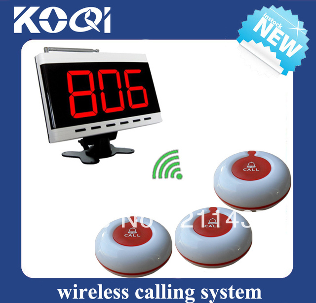 Hotel Room calling system Bar call bell system W 10 room call buttons and 1 LED monitor DHL free shipping free