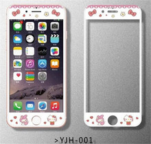 Cartoon cute my melody Tempered Glass film Protective for iPhone6 6S plus Front Films Cover Screen Protector