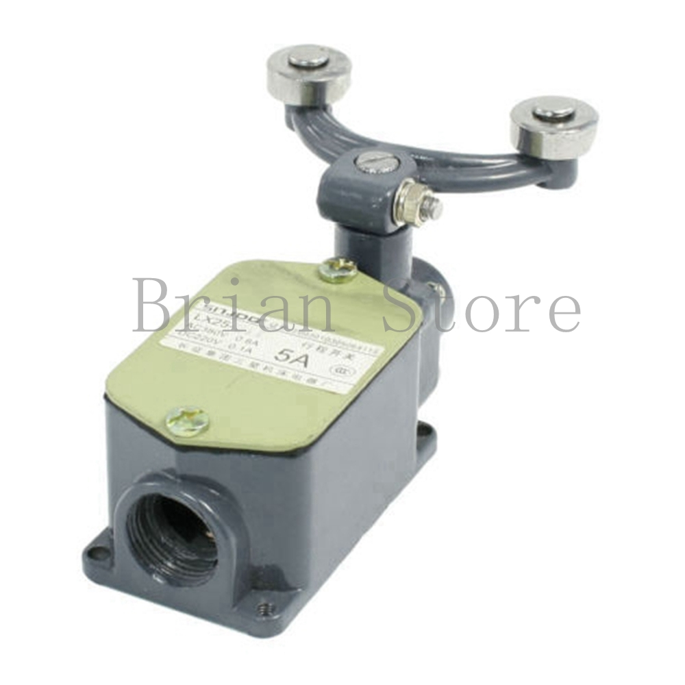 220VDC 380VAC 5A DPST Double Rotary Roller Lever Limit Switch<br><br>Aliexpress