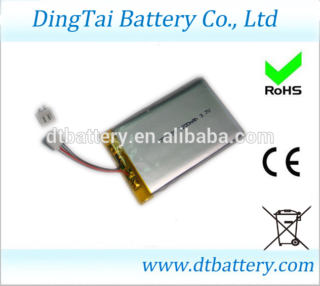 053759 lipo battery 3.7V1200mAh lithium polymer battery cell with PCB protected and contor(China (Mainland))