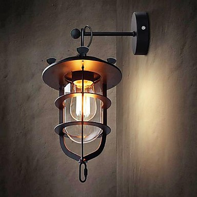 60 w industrielle de style loft vintage edison mur lampe pour la maison edison applique murale. Black Bedroom Furniture Sets. Home Design Ideas
