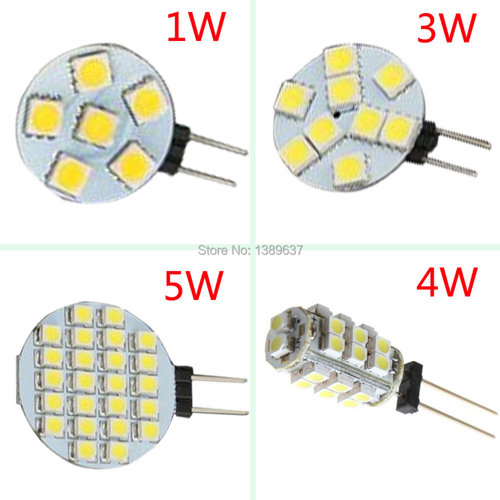10PCS/lot High Brightness G4 LED Bulb Lamp, DC 12V 3W SMD5050 3014 Samsung LED Chips, Cabinets Car Light G4 LED 12V(China (Mainland))