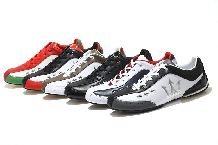 2015 MASERATI fashion Sneakers sneaker men Genuine Leather shoes sports shoes comfortable Racing shoes big size(China (Mainland))