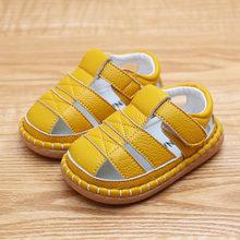 Baby kleinkind leder weichen boden baby schuhe 0-3 jahre alt nicht-slip männliche mädchen kinder schuh sandalen kleinkind mädchen schuhe infant(China)