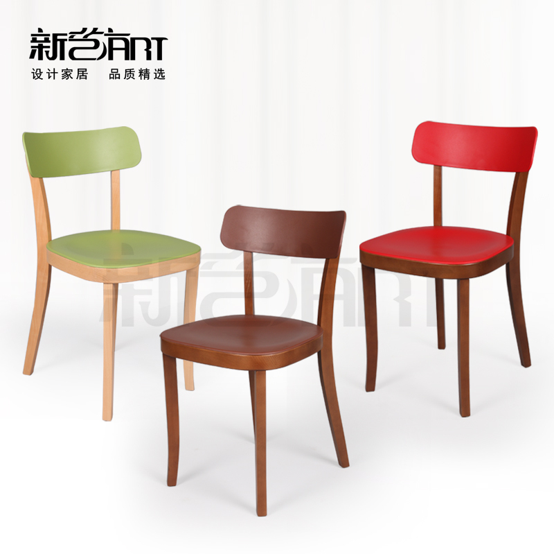 Value Cafe Chairs Minimalist Modern Beech Wood Chair Chair