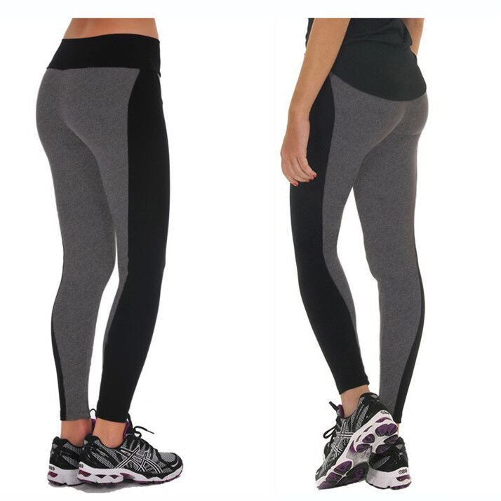 New Style 2015 Summer Autumn Women s Sport Leggings Fashion Patchwork High Waist Elastic Gym Fitness