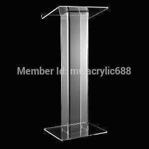 pulpit furniture Free Shipping Popularity Beautiful Modern Design Cheap Clear Acrylic Lectern acrylic podium(China (Mainland))