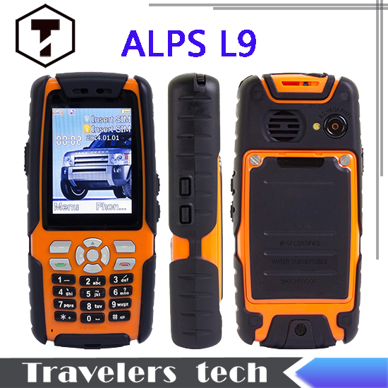 2015 cheap ALPS L9 IP67 rugged waterproof shockproof cell phone analog TV 3800mah big battery 2.4 inch 1.3MP dual sim GSM A8 A9(China (Mainland))