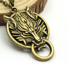 Free Shipping Classic Vintage Jewelry Unique Final Fantasy Wolf Necklace Hot Sale Link Chain Necklace For Men Women Accessories