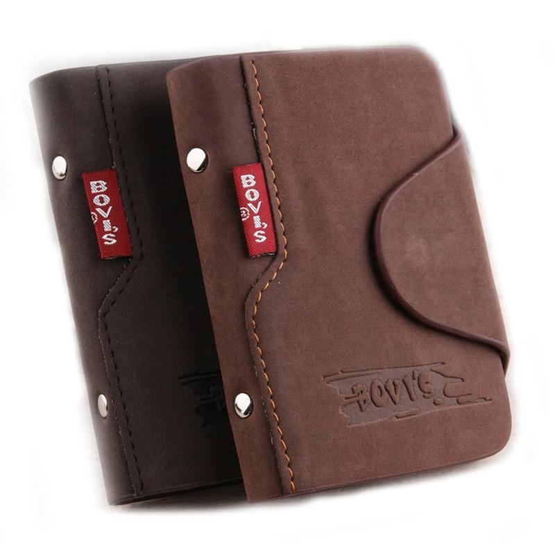 BOVIS Leather Business Card Holder Vintage Credit Card Holder Hasp Card  Organizer Bags Travel Card Wallet-- BIH003 PR20 - us41 76d95c866bf9e