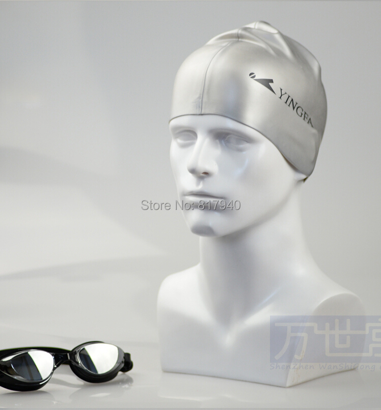 new arrival plus size Fiberglass white male mannequin head for sunglass$ hat display manikin heads(China (Mainland))