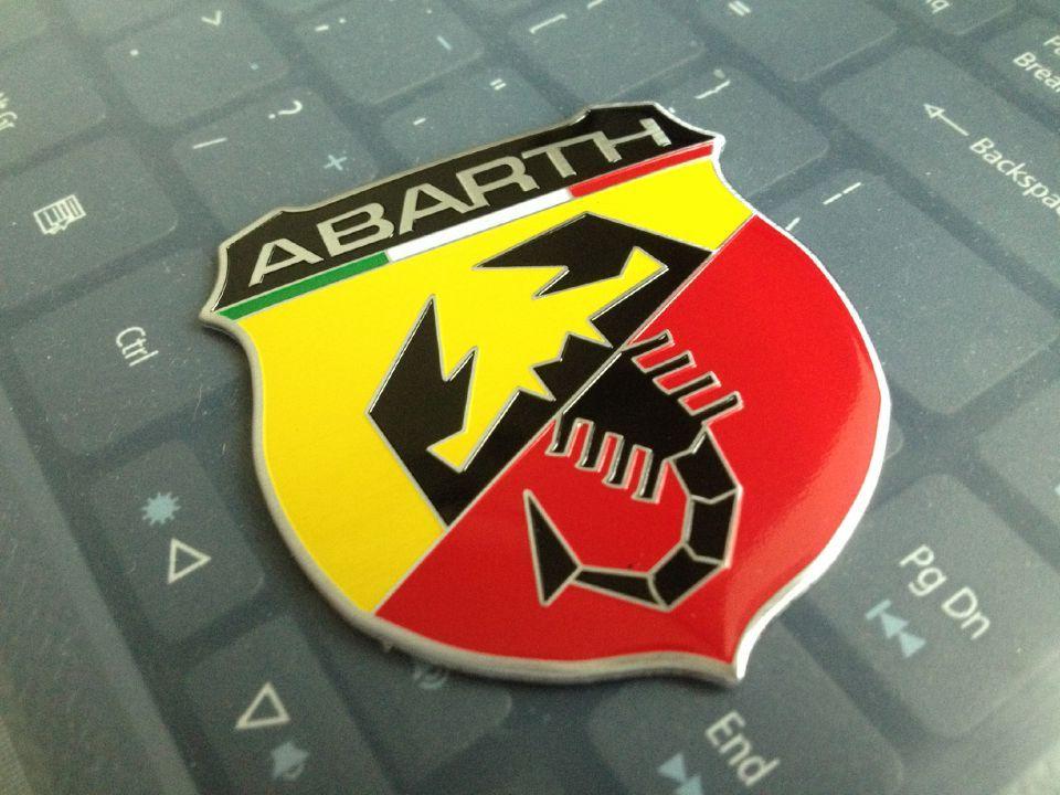 5 3D Metallic ABARTH Car Sticker decal sticker character car 3M Emblem Fiat 124/125/125/500 - Sunshine88 store